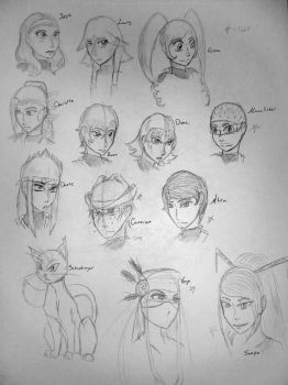 FLD Character Sketches by STsketch