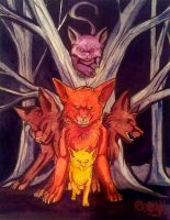 The Fox and The Cat by CALLYKITTY