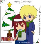 Fairy Tail Xmas Card ~ Erza and Lyte~ by Summonssniper