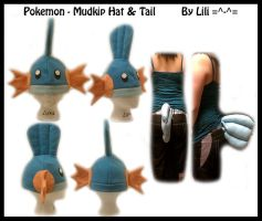 3rd Gen - Mudkip Hat and Tail by LiliNeko