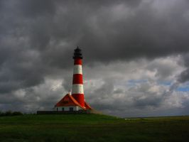 Lighthouse in Westerhever by sportytomm