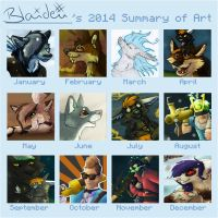 Summary of Art 2014 by BlaideBlack
