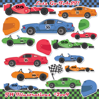 Lets Go FAST Racecars by jdDoodles