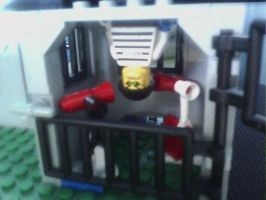 Nick Brick's new jail cell laser beam turrets by firelightyear