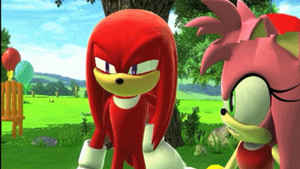 Amy Pwns Knuckles GIF by SpongicX