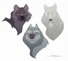 Elderly Wolves by Naviira