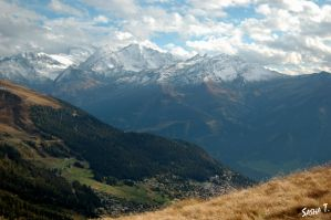Swiss Alps in autumn V by SashaZombie