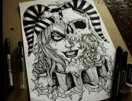 Jester -Commision tattoo desing by TheFreaksWorld