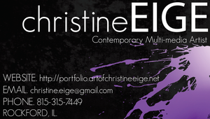New Business Card-Rough Draft by Christine-Eige