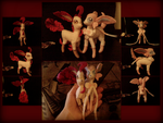 Leafeon and Sylveon Felt Dolls by MichelleBergeron