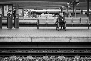 Waiting For The Train by Simmemann