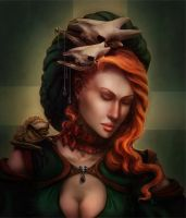 Red Hair by Lirerive