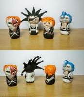 AT-Mihijime's tiny Bleach army by MariaHasAPaintBrush