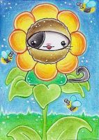 ACEO Nr. 105 Kitty or Flower by oOMetalbrideOo