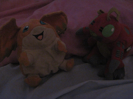 Patamon and Tentomon. by PipecleanerFTW