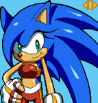 Gift: Sonii The Hedgehog by ZeroR102