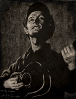 Woody Guthrie .White Charcoal. by dwightyoakamfan