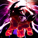 Mythical Fakemon Silhouette by Xous54