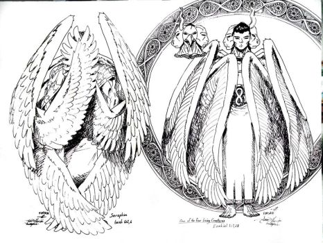 Seraphim and Creature 4 of 4 by ForeverMan724