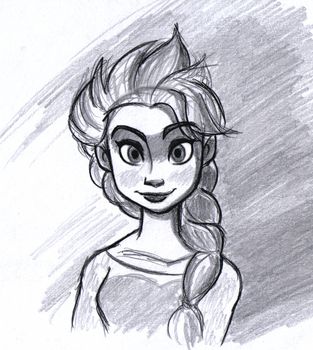 Queen Elsa Sketch by BlueLink