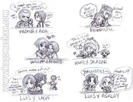 RE Chibis: Couples Part 2 by I-heart-Link