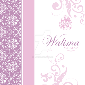 Walima Invitation Card by H-A-designs