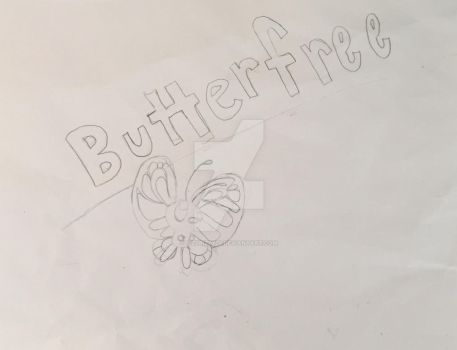 Butterfree Doodle by Izzybizzy29