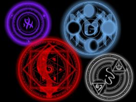 Runic Circle PS Brush Practise by Quill-Tail