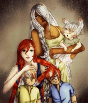 WhiteHair Family by RiverDrop