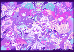 Demons of Puzzle and Dragons! by WatermelonOwl