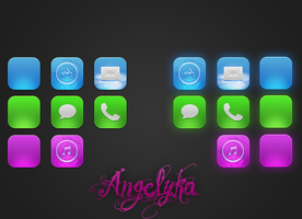 WIP Angelyka iPhone Theme by itouchking