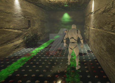 Procedural Sci-Fi Floor Texture in UE4 by Rushyo