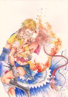 Tidus and Yuna FFX2 by vanillasky93