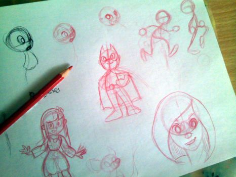 Sketching characters by fabianfucci