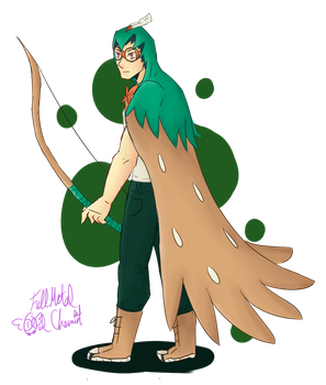 Soren the Decidueye by FullMetalOwlChemist