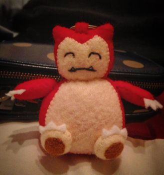 Pokeplush - Red Snorlax by Jack-O-AllTrades