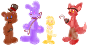 Five Nights at Freddy's Fricking Adorable Buddies by JBWarrior