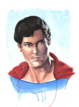Christopher Reeves as Superman WC by KristofferNS