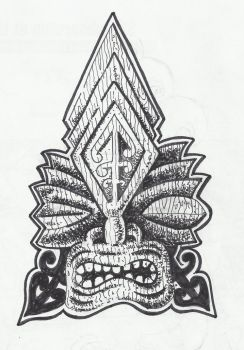 Tiki Tattoo by atomictonytiki