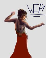 Lady in the red dress WIP by Satanic-Rabbit