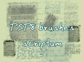 Script Brushes by Mella68