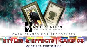 Month 03: Card 08 - Photoshop (Styles+FX | Tarot) by CauseThought