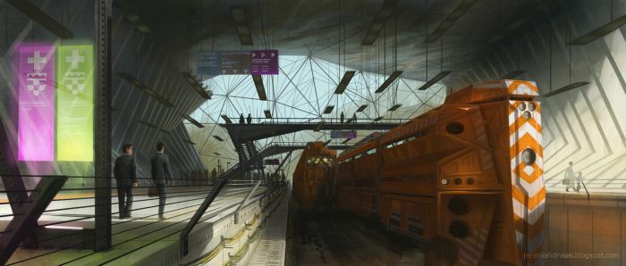 Train Station by J-Humphries