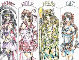 Sailor Team - color by Angel-17