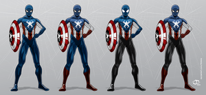 Spider-Man as Captain America by Tloessy
