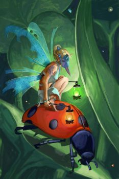 Lantern Fairy With Mask by mattwatier