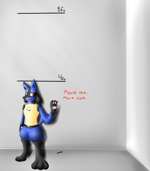 Lucario Growth Thingy by MacroBlazikenSilver