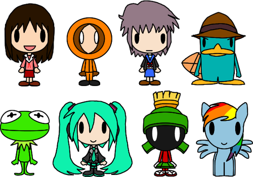 Character Chibis by LimeTH