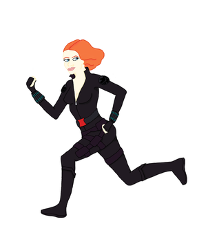 Black Widow Cartoon Version by eK-designs