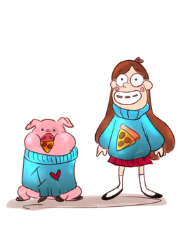 Mabel and Waddles by Teopaca